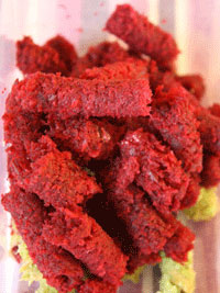 Beetroot juicer pulp