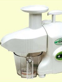the samson ultra electric twin gear juicer for juicing fruit, vegetables and wheatgrass