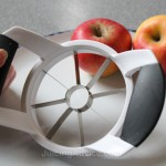 apple corer about to be used