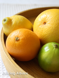 citrus fruits for juicing - lemon, lime, grapefruit and orange
